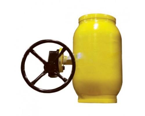 Кран шаровый Broen Ballomax® тип КШГ 71.102R с редуктором на ГАЗ под приварку Ду 125-800 Ру 25/16