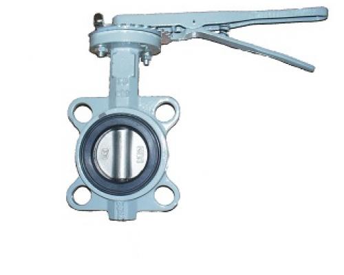 Затвор дисковый поворотный Абадрадокс тип BUV-VF863 с рукояткой Ду 32-300, Ру  16 бар