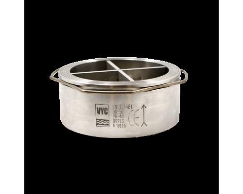 Клапан обратный межфланцевый нержавеющий VYC 170-03 Ду 15-100 Ру 40