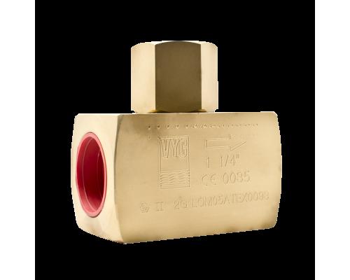 Клапан обратный резьбовой латунный VYC 179-01 Ду 8-50 Ру 200