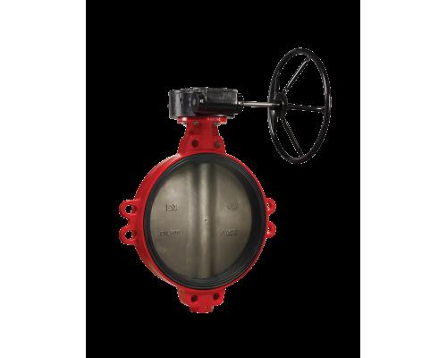 Затвор дисковый поворотный  Гранвэл тип ЗПНЛ с редуктором Ду 32-800, Ру  16 бар