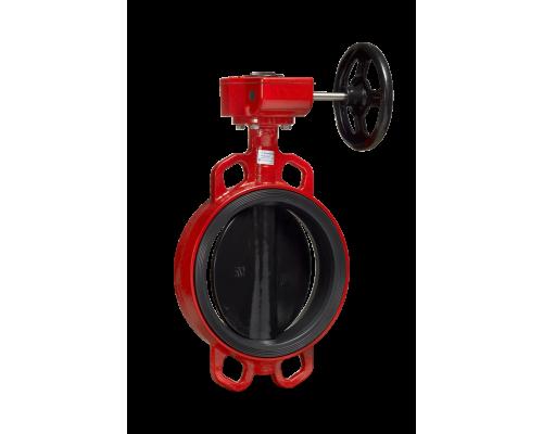 Затвор дисковый поворотный  Гранвэл тип ЗПНС с редуктором Ду 32-800, Ру  16 бар