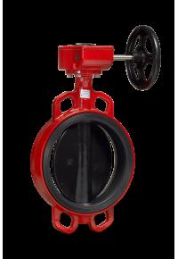 Затвор дисковый поворотный  Гранвэл тип ЗПТС с редуктором Ду 32-900, Ру  10/16 бар