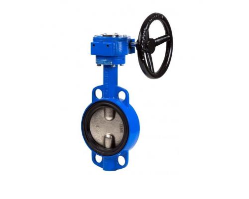 Затвор дисковый поворотный Benarmo DN 150-800, PN 10/16 бар с редуктором диск нерж. сталь