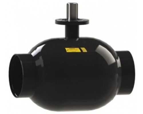 Кран шаровый Бивал тип КШГ 12 с ИСО-фланцем газовый под приварку  Ду 125-200 Ру 25