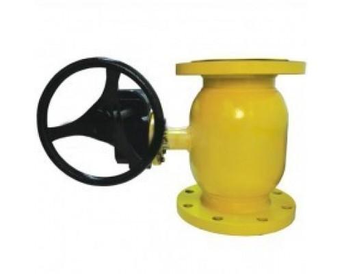 Кран шаровый Broen Ballomax® тип КШГ 71.103R с редуктором на ГАЗ фланцевый Ду 125-800 Ру 25/16