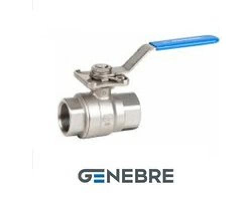 Кран шаровый Genebre тип 2015 полнопроходной c ISO фланцем нержавеющий резьбовой Ду 8-50, Ру 63
