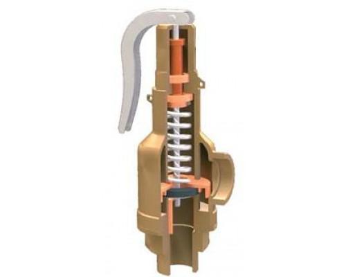 Клапан предохранительный Прегрн КПП 095-05 резьбовой латунный пропоциональный Ру 16