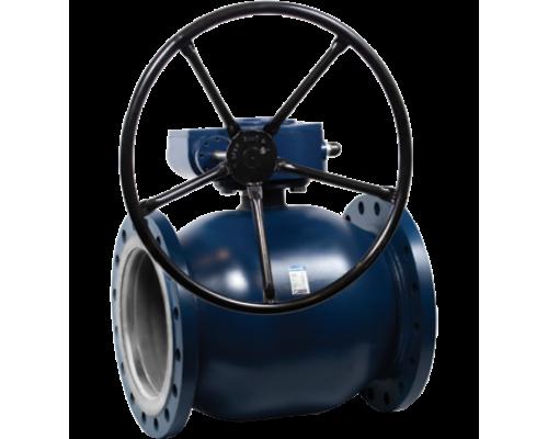 Кран шаровый Ситал тип Т1-22-2 с редуктором фланцевый Ду 100-600, Ру 25