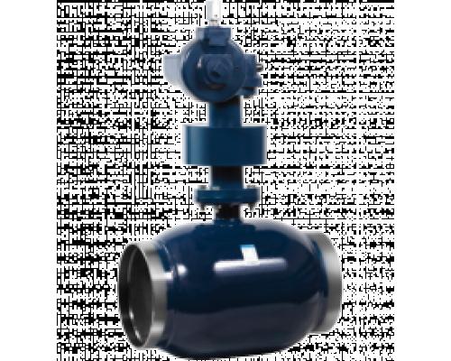 Кран шаровый Ситал тип Т4-11-5 с редукторм для подземной установки Ду 200-600, Ру 25