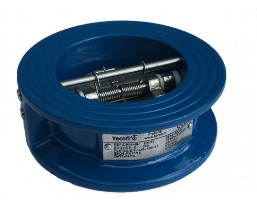 Клапан обратный межфланцевый чугун Tecofi CB 3448 Ду 40-600 Ру 16