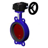 Затвор дисковый поворотный Tecofi тип VPI4448 с редуктором Ду 32-300, Ру 16 бар