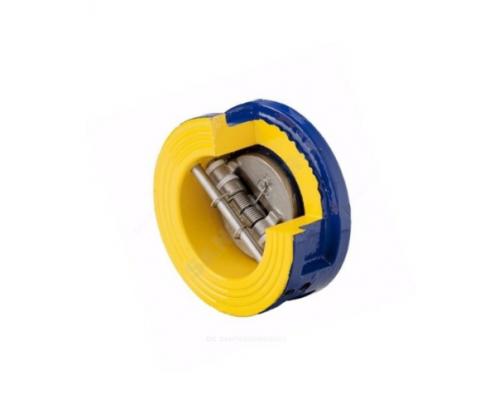 Клапан обратный межфланцевый чугун Zetkama 407A Ду 40-400 Ру 16, створки нерж. сталь