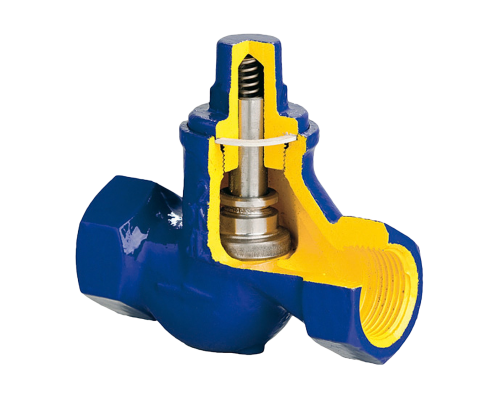 Клапан обратный резьбовой чугунный Zetkama V277 Ду 10-50 Ру 16