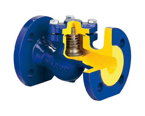 Клапан обратный фланцевый чугунный Zetkama V287 Ду 15-300 Ру 16